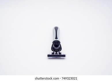 Shaving Razor Over White Background