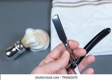 Shaving soap and razor