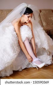 she is a bride today, gorgeous brunette bride