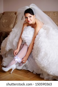 she is a bride today, starting of a wedding day