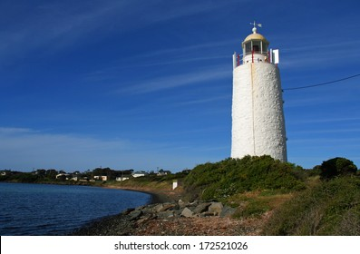 She Oak Point Lighthouse on the Tamar River, George Town, Tasmania, Australia