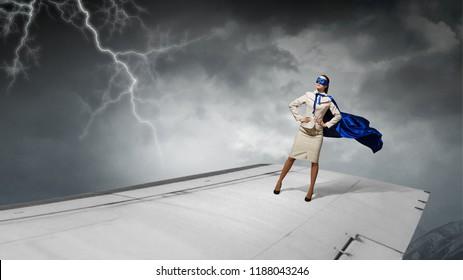 She is super hero . Mixed media