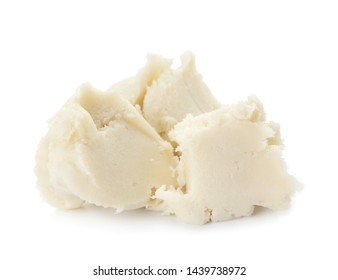 Shea butter on white background