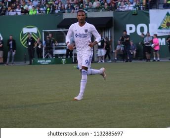 Shea Salinas forward for the San Jose Earthquakes at Providence Park in Portland Oregon USA July 6,2018.