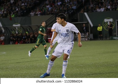 Shea Salinas midfielder for the San Jose Earthquakes at Providence Park in Portland Oregon USA July 6,2018.
