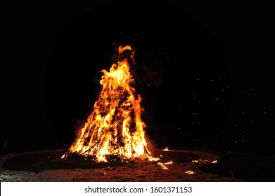 Sheaf burning on Daeboreum, the day of the first full moon of the year by the lunar calendar