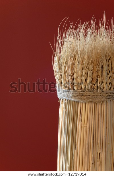 sheaf-wheat-against-red-background-600w-