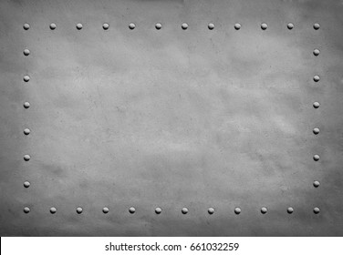 Sheathing with rivets aircraft. Frame, background
