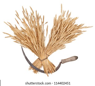 Sheaves of wheat and sickle