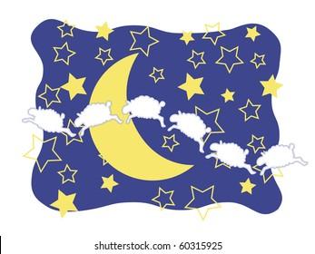 Sheep Moon and Stars