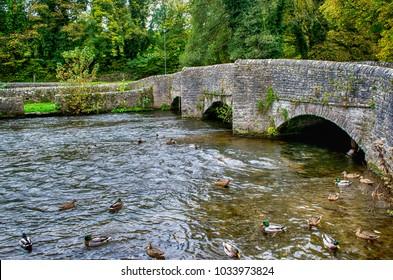 The Sheepwash Bridge, Ashford-in-the-Water, Derbyshire, England