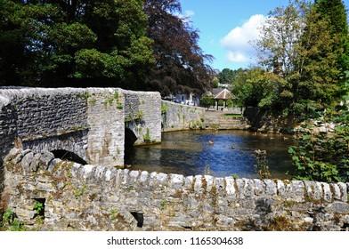 Sheepwash bridge on the River Wye, Ashford-in-the-Water, Derbyshire, England, UK, Western Europe.