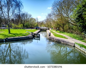 Sheering Mill Lock on the River Stort - Near Harlow, Essex