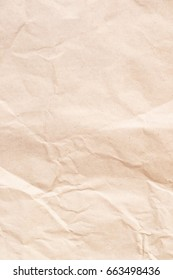 Sheet of crumpled brown paper as background