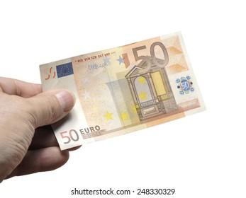 sheet euro on a white background