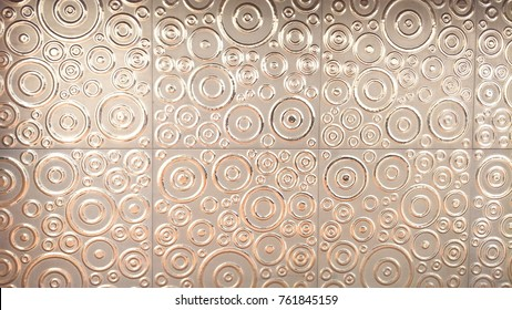Sheet metal embossing pattern used to decorate buildings.