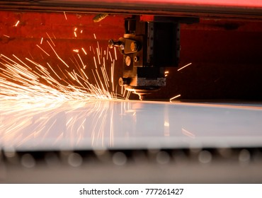 Sheet metal laser cutting in the plant