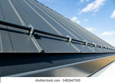 Sheet metal roof and snow guard. Graphite color.