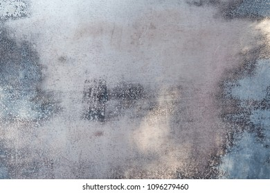 Sheet Metal and Worn Paint on background image