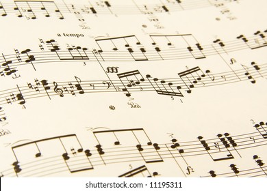 Sheet music close-up