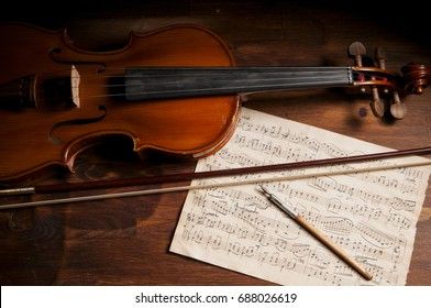 Orchestra Sheet Music Images, Stock Photos & Vectors