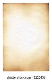 Sheet of the old paper which has visited on fire. The paper is specially prepared for the further correction. It is convenient to put on it the text or a picture.