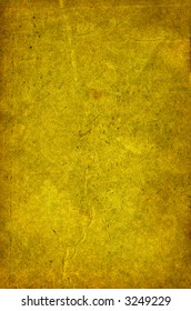 Sheet of the old paper which has turned yellow from time. The picture is convenient for drawing on it of the text or images.