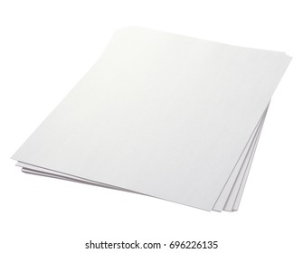 sheet of paper isolated on white with clipping path