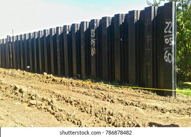 sheet pile in construction.