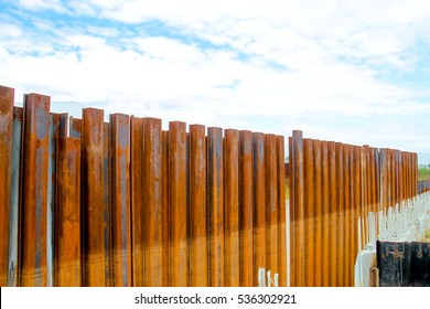 sheet pile wall for steel retaining wall steel sheet pile installation work
