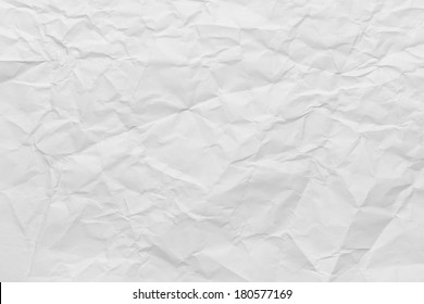 Sheet of Printer Paper Wrinkled Background.