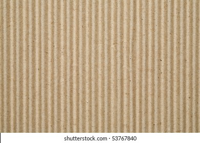 Sheet of recycled corrugated cardboard