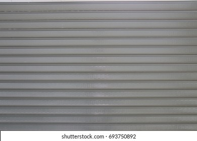 Sheet steel roll door gray  Used as background