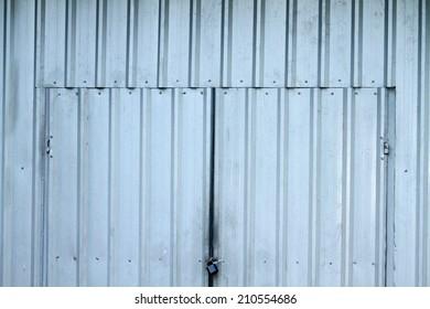 Sheet steel wall