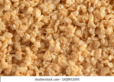 A Sheet of Uncut Marshmallow Crispy Rice Cereal Treat Bars