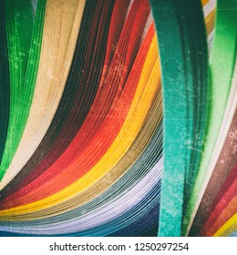 Sheets of colored paper. Abstract background