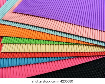 Sheets Colorful Corrugated Cardboard Stock Photo (Edit Now) 4235080 ...