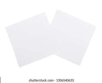 Sheets of paper isolated on white background