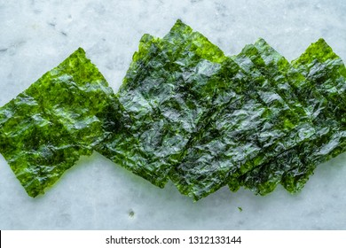 Sheets of roasted nori seaweed wrapping