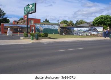 "SHEFFIELD, AUSTRALIA - NOVEMBER 20:Mural from ""Town of Murals"""
