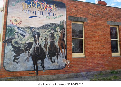 "SHEFFIELD, AUSTRALIA - NOVEMBER 20:Mural from ""Town of Murals"""