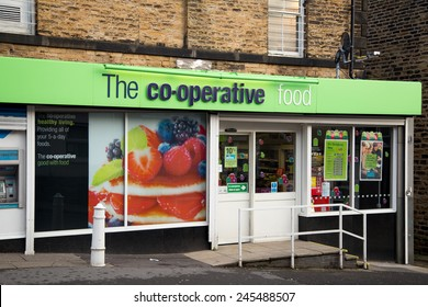 SHEFFIELD - DECEMBER 26TH: A co-operative food store on December the 26th, 2014, in Sheffield, England, UK. The co-operative group has over 7 million members.
