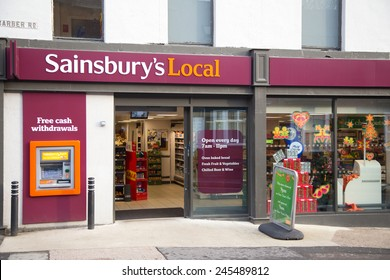 SHEFFIELD - DECEMBER 26TH: The exterior of a sainsbury's local on December the 26th, 2014, in London, England, UK. Sainsbury's is one of the UK's leading supermarkets.