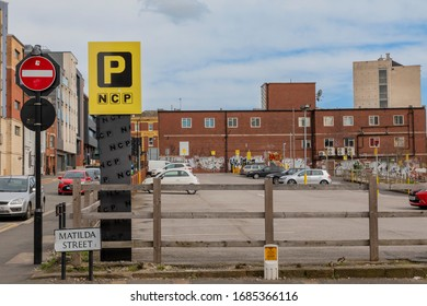 Sheffield, England - March 21, 2020: Quite NCP car park in central Sheffield during the Coronavirus COVID-19 outbreak.