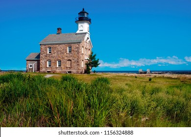 Sheffield Island lighthouse, with its unique architecture of stone, is a favorite island attraction during the summer season.