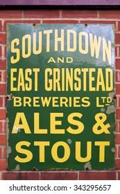 SHEFFIELD PARK, EAST SUSSEX/UK - NOVEMBER 22 : Old advertising sign at Sheffield Park Station East Sussex on November 22, 2015