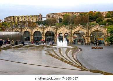 Sheffield station is a combined railway station and tram stop in Sheffield, England, and the busiest station in South Yorkshire
