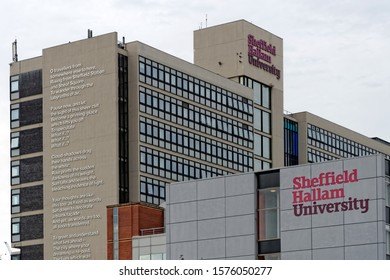 SHEFFIELD, UK - AUGUST 9, 2018: Sheffield Hallam University, a public research university in Sheffield, and one of the UK's largest and most diverse.