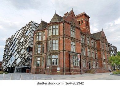 SHEFFIELD, UK - AUGUST 9, 2018: The Jessop and the Diamond Building at the University of Sheffield.