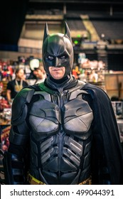 Sheffield, UK - June 11, 2016:  Cosplayer dressed as 'Batman' from the 'Batman' series at the Yorkshire Cosplay Convention at Sheffield Arena